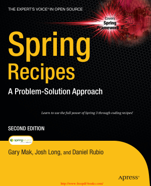 Spring Recipes 2nd Edition – PDF Books