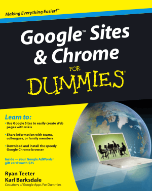 Google Sites and Chrome for Dummies – PDF Books