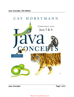 Java Concepts for Java 5 and 6 5th Edition – PDF Books