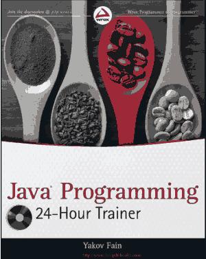 Java Programming 24 Hour Trainer –, Java Programming Tutorial Book