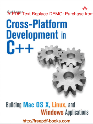Cross Platform Development In C++, Free Ebooks Online