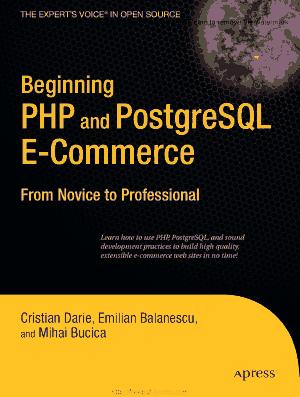 Beginning PHP And Postgresql ECommerce