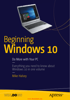 Beginning Windows 10 Do More With Your PC – Free PDF Books