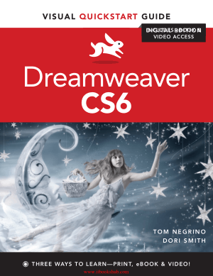 Dreamweaver CS6- Visual QuickStart Guide – Free PDF Books