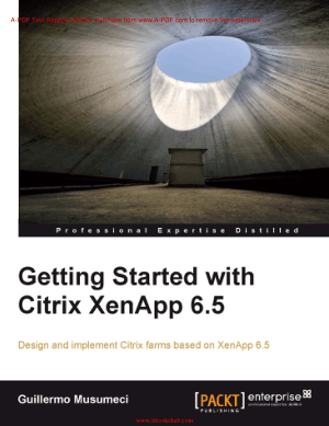 Getting Started with Citrix XenApp 6.5 – Free PDF Books