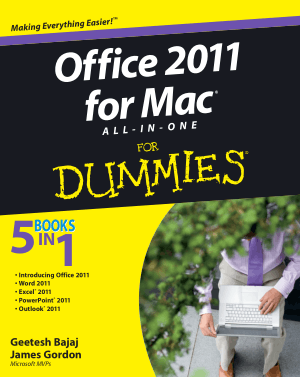 Microsoft Office 2011 For Mac All In One For Dummies – Free PDF Books