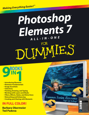 Photoshop Elements 7 All In One For Dummies – Free PDF Books