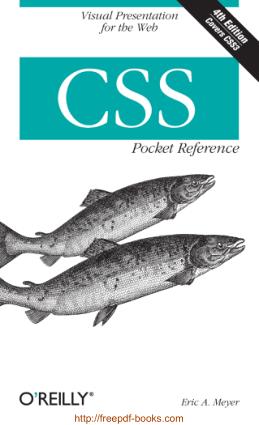 CSS Pocket Reference, Pdf Free Download