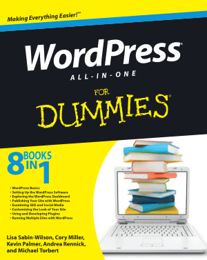 WordPress All In One For Dummies – Free PDF Books