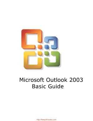 Microsoft Outlook 2003 Basic Guide