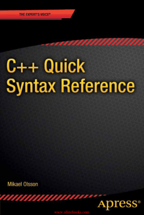 C++ Quick Syntax Reference – Free Pdf Book