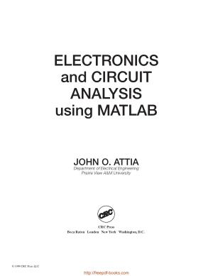 Electronics And Circuit Analysis Using MATLAB