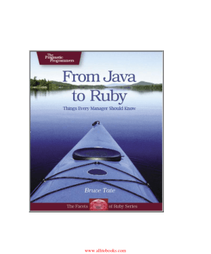 From Java To Ruby – Free Pdf Book