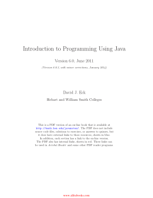 Introduction to Programming Using Java Version 6.0 – Free Pdf Book
