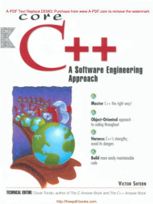 Core C++ A Software Engineering Approach, Ebooks Free Download Pdf