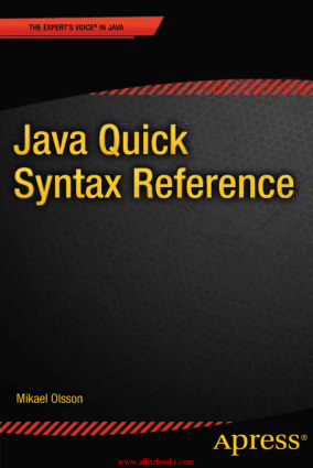 Java Quick Syntax Reference –, Java Programming Book