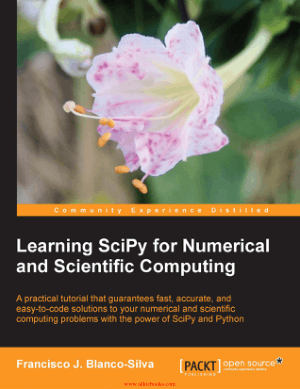 Free Download PDF Books, Learning SciPy for Numerical and Scientific Computing –, Learning Free Tutorial Book