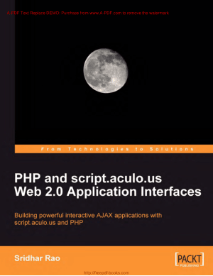 PHP And Script Aculo Us Web 2 Application Interfaces