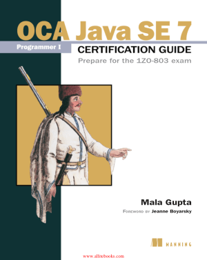 OCA Java SE 7 Programmer I Certification Guide – FreePdfBook