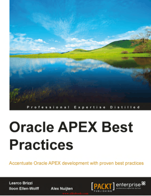 Oracle APEX Best Practices – FreePdfBook