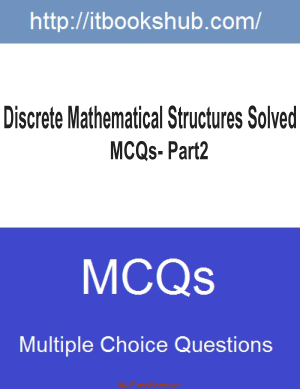 Discrete Mathematical Structures Solved Mcqs Part2