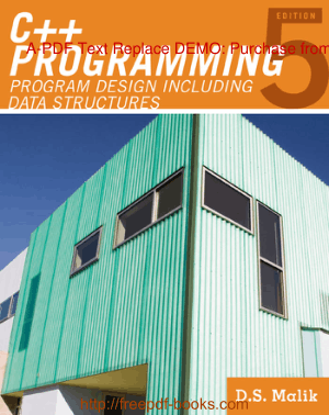 C++ Programming Program Design Including Data Structures