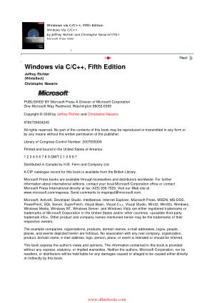 Windows via C C++ 5th Edition – FreePdfBook