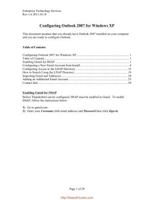 Configuring Outlook 2007 For Windows Xp