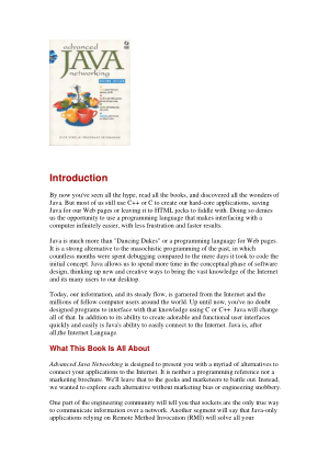 Advanced Java Networking, Pdf Free Download
