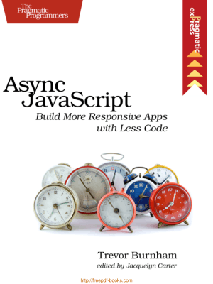 Async Javascript Build More Responsive Apps With Less Code, Pdf Free Download