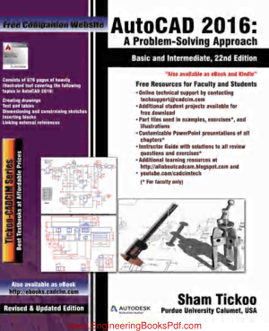 AutoCAD 2016 A Problem Solving Approach Basic and Intermediate 22nd Edition, Best Book to Learn
