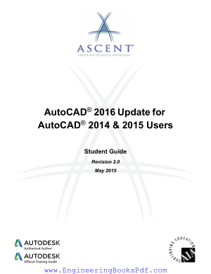 Free Download PDF Books, AutoCAD 2016 Update For AutoCAD 2014 and 2015 Users, Free Ebook Download Pdf