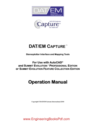 DATEM Capture for AutoCAD, Drive Book Pdf