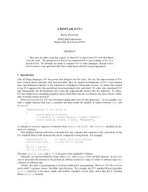 A Brief Look at C++ – FreePdf-Books.com