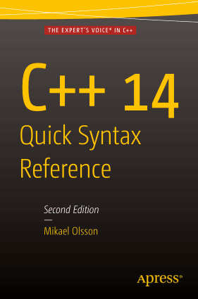 C++ 14 Quick Syntax Reference 2nd Edition Book –, Free Ebook Download Pdf