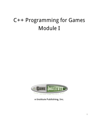 C++ Programming for Games Module-I Textbook – FreePdf-Books.com