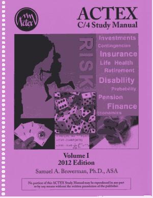ACTEX C4 study Manual –, Drive Book Pdf