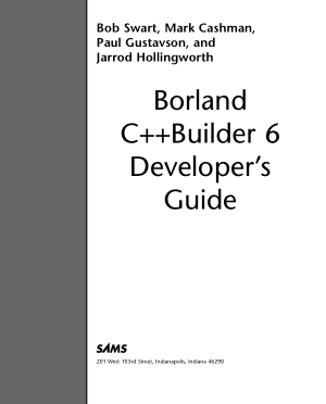 Borland C++ Builder 6 Developer Guide –, Ebooks Free Download Pdf