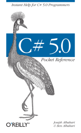 Free Download PDF Books, C# 5.0 Pocket Reference Instant Help for C# 5.0 Programmers –, Best Book to Learn
