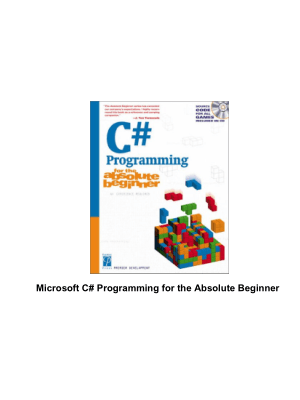C# Game Programming For The Absolute Beginner –, Download Full Books For Free