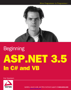 Free Download PDF Books, Beginning ASP.NET 3.5 In C# and VB –, Download Full Books For Free