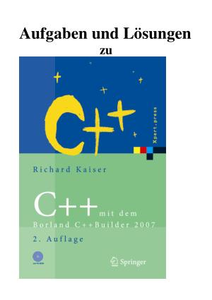 C++ mit dem Borland C++ Builder 2007 – FreePdf-Books.com